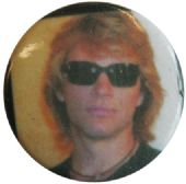 Bon Jovi - 'Jon Sunglasses Yellow and White' Button Badge